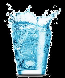 Water Glas Splash - Vrij Gezet 72 DPI